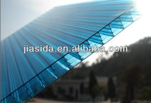 Hot sale UV coat four wall polycarbonate sheet/polycarbonate multi-wall sheet/polycarbonate 4 wall hollow sheet