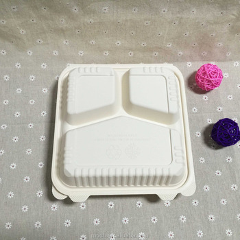 Innovative Products Biodegradable 3 Compartment Takeaway Food Containers