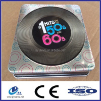 2015 Promotion customize recycle metal CD, DVD case, tin box packaging