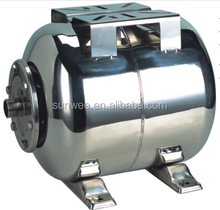 24L stainless steel horizontal water storage pressure expansion tank for water pump