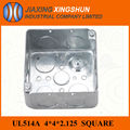 2014 HOT 4x4 Square galvanized electrical switch metal box