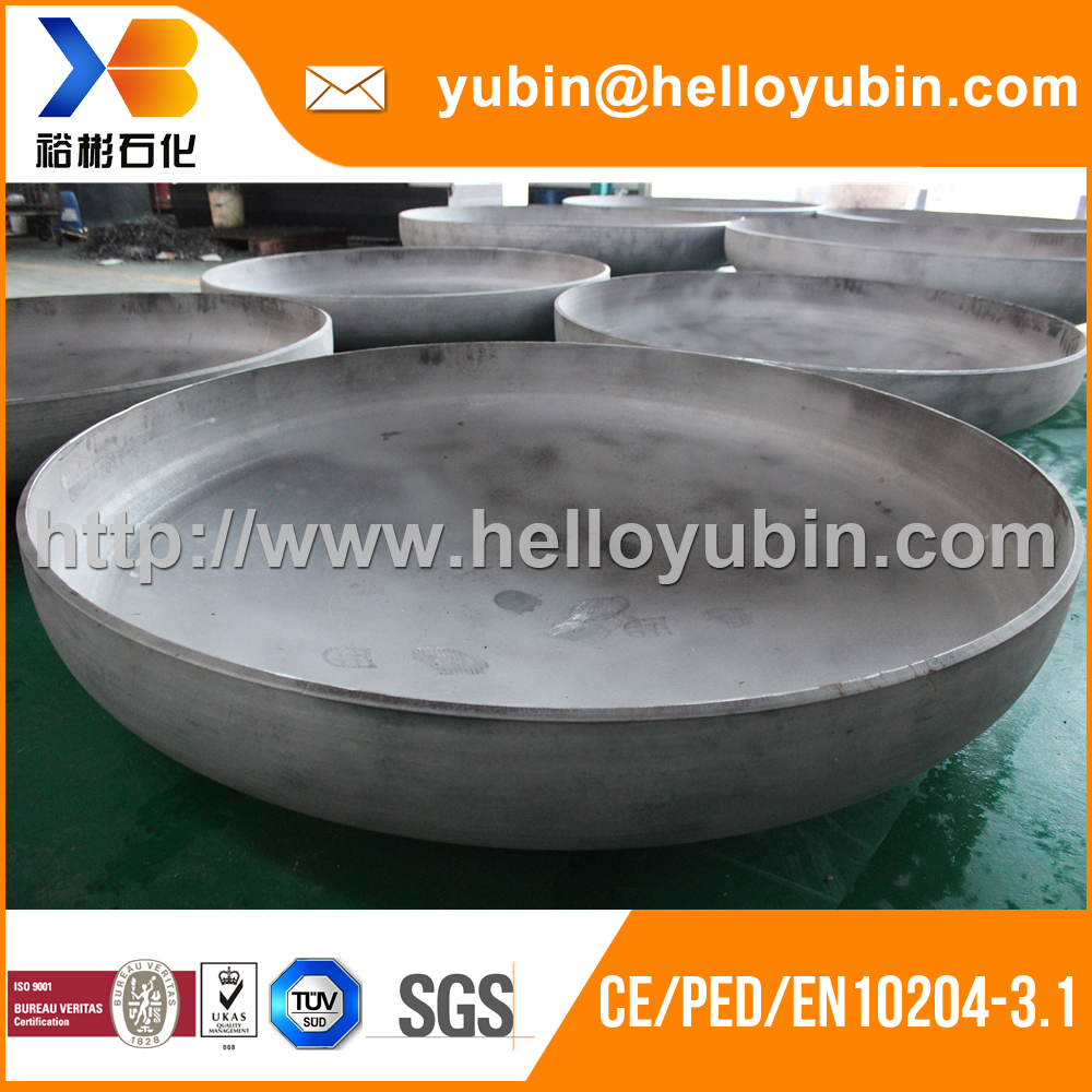 Customize machining high quality stainless steel dish end design for heat exchanger