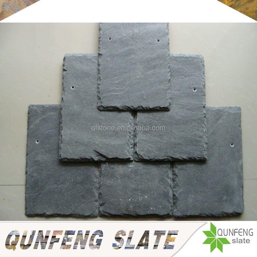 grey color natural Chinese slate stone roof tile flexible roofing materials