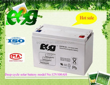 Hot sale 12V 100 ah deep cycle solar battery for UPS and solar system