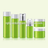 wholesale fancy color coating round bottom 30ML 50ML glass jars 100ML 120ML bottle cosmetic with pump
