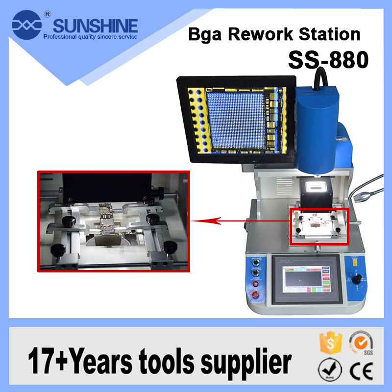 Complete BGA Optical Rework Station Phone Mother Board Welding Repair Machine