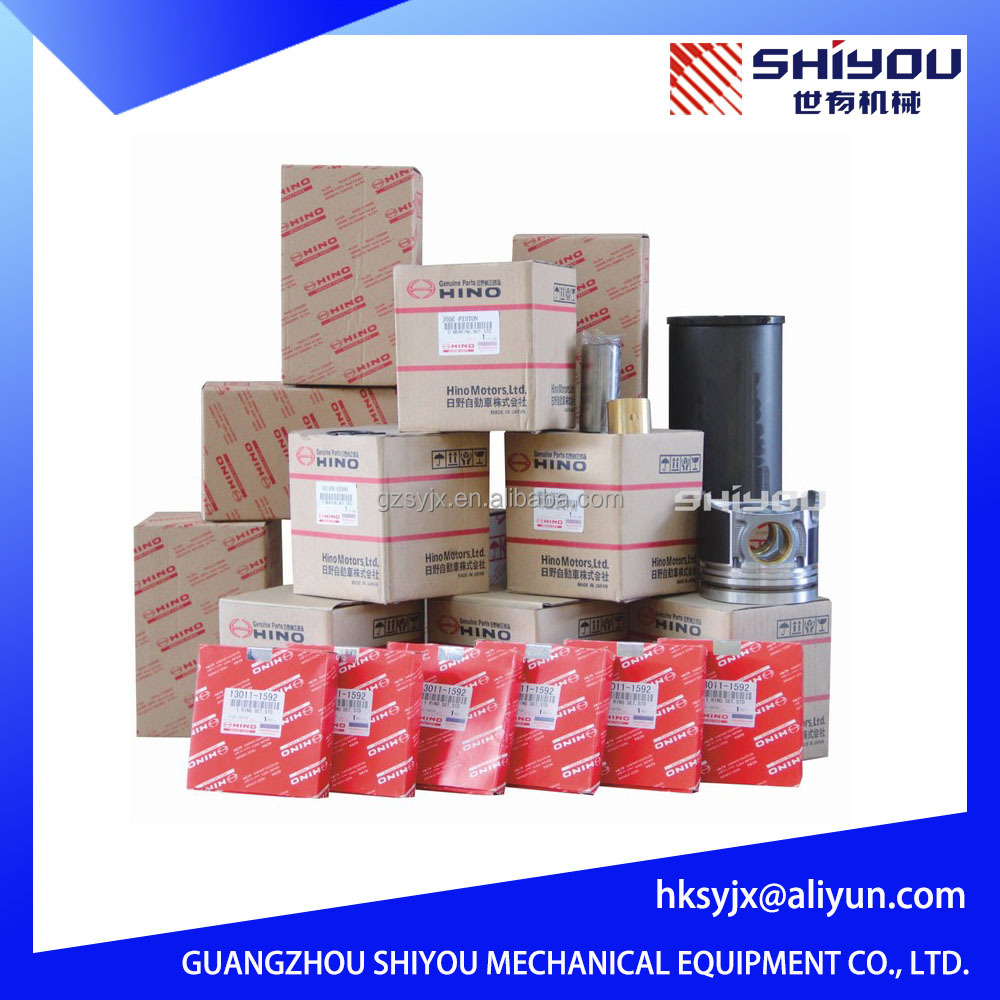 Genuine Excavator Engine Parts For Liner Kits H06CT H07CT EK100 EP100 EM100 EL100 EB100 EF750 EH700 Piston Kits