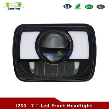 2PCS Square 7 INCH 30W LED HEADLIGHT 9-60V IP67 For Jeep Wrangler JK LJ TJ Cherokee XJ Truck Offroad J230