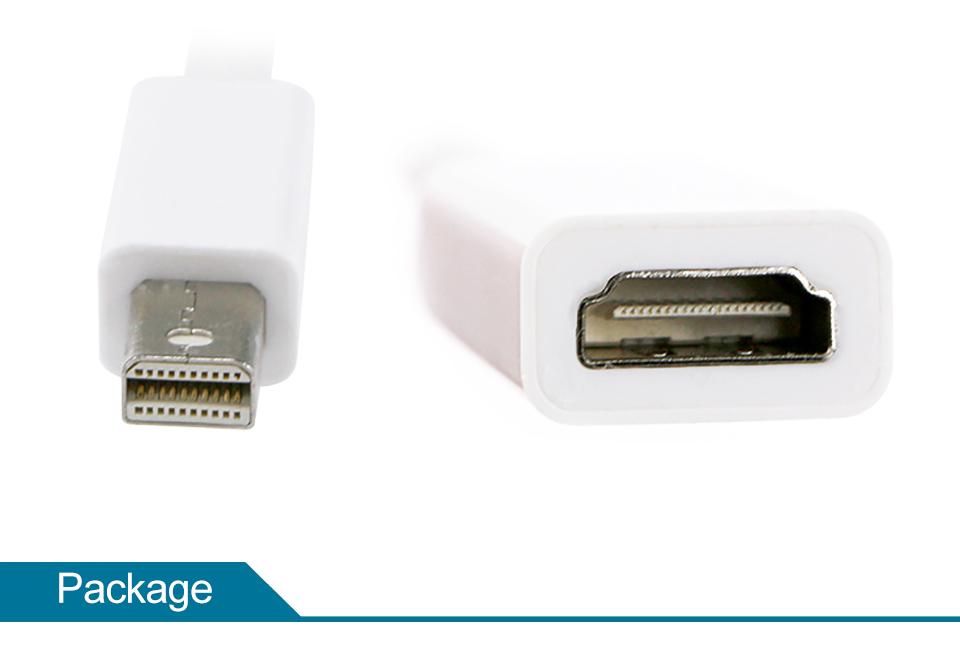 Mini DP to HDMI Adapter Cable Mini DisplayPort Thunderbolt Port Converter for Macbook Pro Air Projector Camera TV PC  (14)