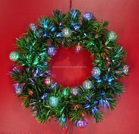 Fiber Ball Decor Optic Fiber PVC Christmas Wreaths