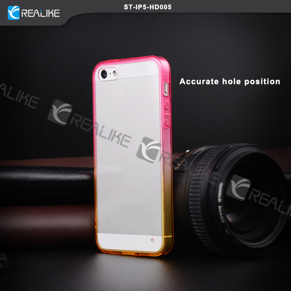 Factory Supply Popular style design for iphone 5 5s transparent matte led pc case