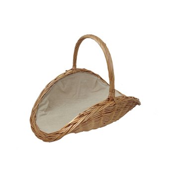 Small wicker gift basket with handles