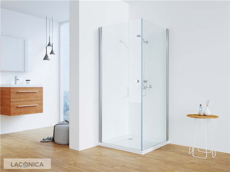 China Swift Chrome Pivot Shower Enclosures With 6mm Glass