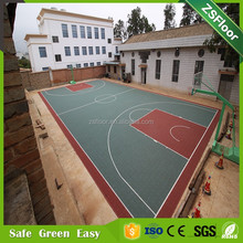PP outdoor basketball suspension interlock sports plastic flooring