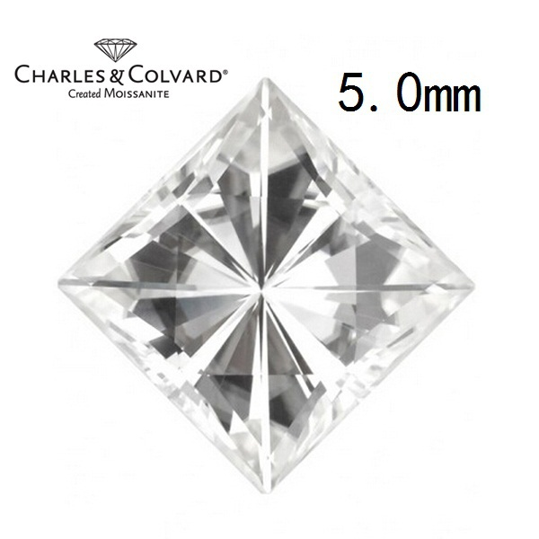 Certified Charles Colvard Square Cut White Moissanite Wholesale