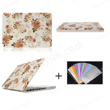 "Floral Pattern Rubber for Apple Macbook Pro PC Shell Case Hard Case + Keyboard Protector for Macbook Pro 13.3"" 15.4"" Slim Cover"