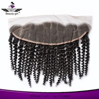 new arrival african curly silk base Lace Frontal 13*4 Brazilian Hair Full Closure