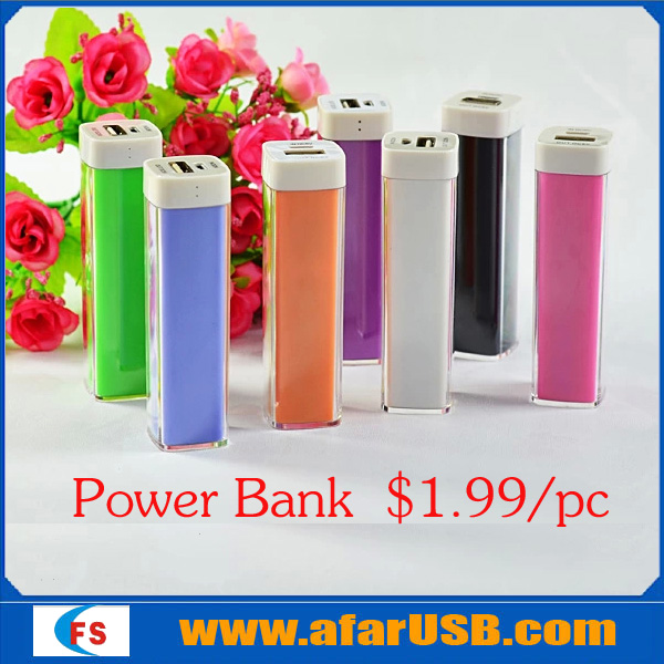 Promotional gift / Fashion Power bank charge Smart phones 2200mAh / Custom logo Low price US$1.99