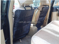 2015 new car Organizers car seat back mats with mesh poket RH-QCM001 car kick mat
