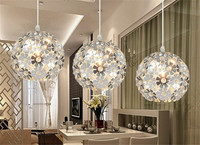 Beautiful Silver Crystal Chandelier Light Fixture Aluminum Hanging Lamp Crystal Light for Dining Bedroom Brazil