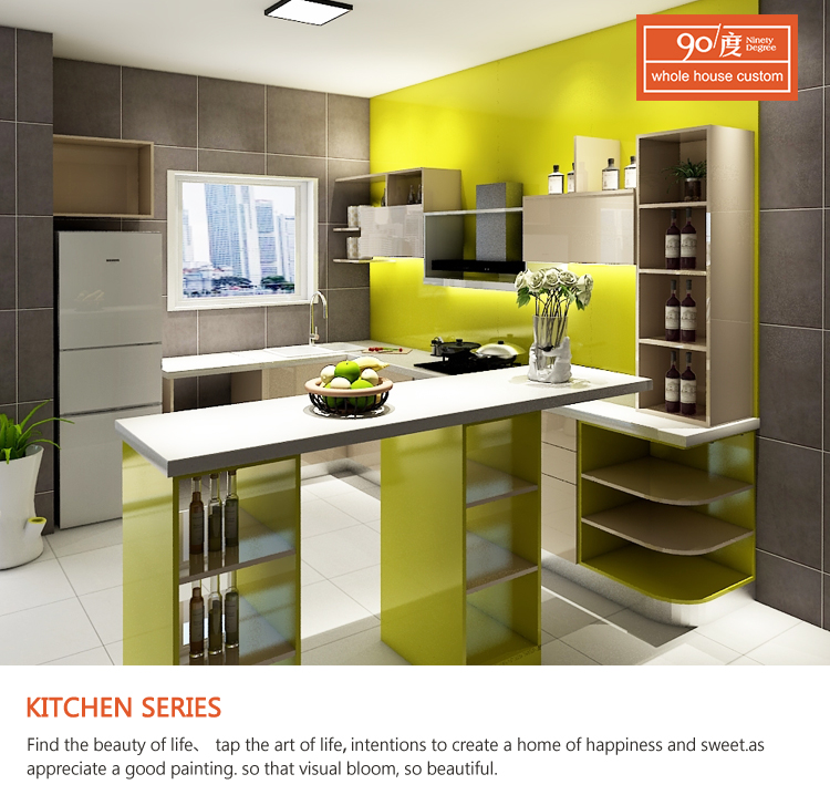 Foshan Narnia lacquer modern kitchen cabinet for small kitchen