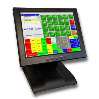 LKS-TM12B 12 inch touch screen monitor with solid base
