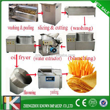 semi-automatic potato chips making machine/ frozen french fries production line