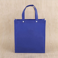 Foldable Two Buttons Non-woven Shopping Tote Bag