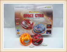 New product kids plastic flash musical space gyro spinning top toy peg top