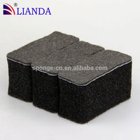 Fireplace Stone Wall Steel Wool Scrubber Ball, Black Filter Sponge Polishing Pad
