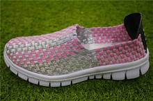 Beautiful pink ladies woven training shoes