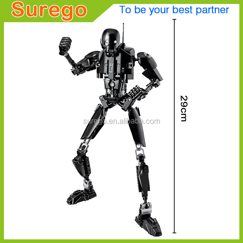 Star Space War K-2SO Building Blocks Buildable Toy Assembly Action Figure Model 3D Model Collection Gift