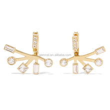 Diamond ear jacket 14k gold plated new arrival