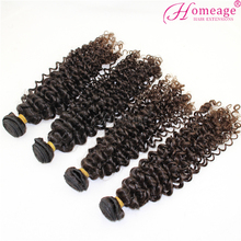 homeage best quality human weave tangle free fluffy deep hair curly
