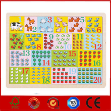 High Quality Math puzzle kindergarten toy,Educational Toy Kid Game Wood number Puzzle,Hot sale Wooden Number Puzzle