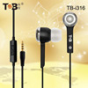 Factory direct sale Computer Use and 3.5mm Connectors computer earphones with mic