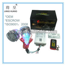 professional motorcycle mp3 audio alarm system/motorcycle alarm lock