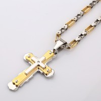 F5301 stainless steel Necklace Cross Necklace Pendant