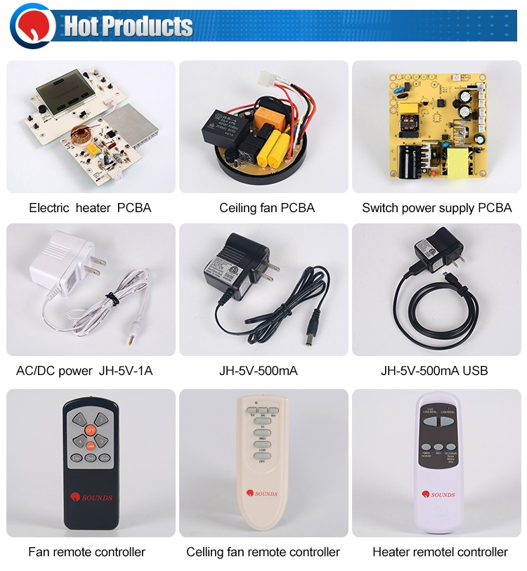 electronic printed pcb circuit board IR Remote control switch for fan and electric heater