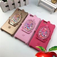 Colorful Rhinestone Magic Mirror Phone Case For iPhone 5 5s Make up Cover for Girls Gift CA1128