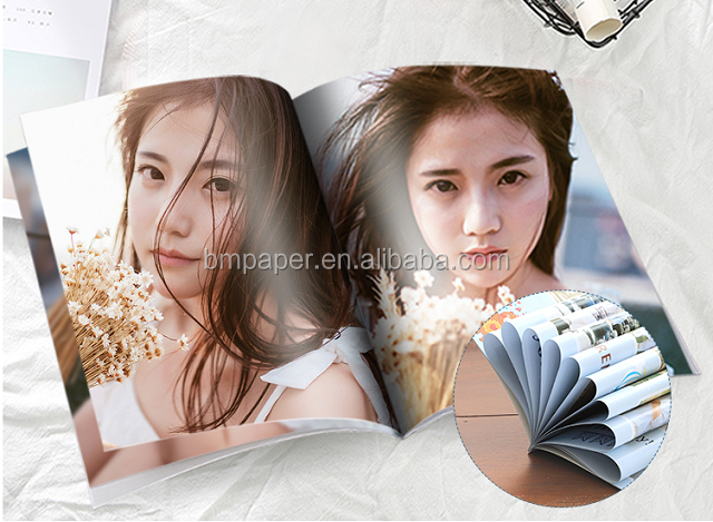 SGS FSC Approved White Glossy Coated Paper For Making High-end Magazine
