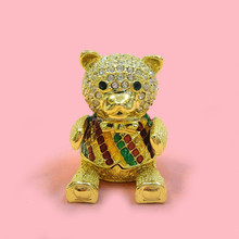 Alibaba supplier Cute teddy bear jewelry box for necklaces