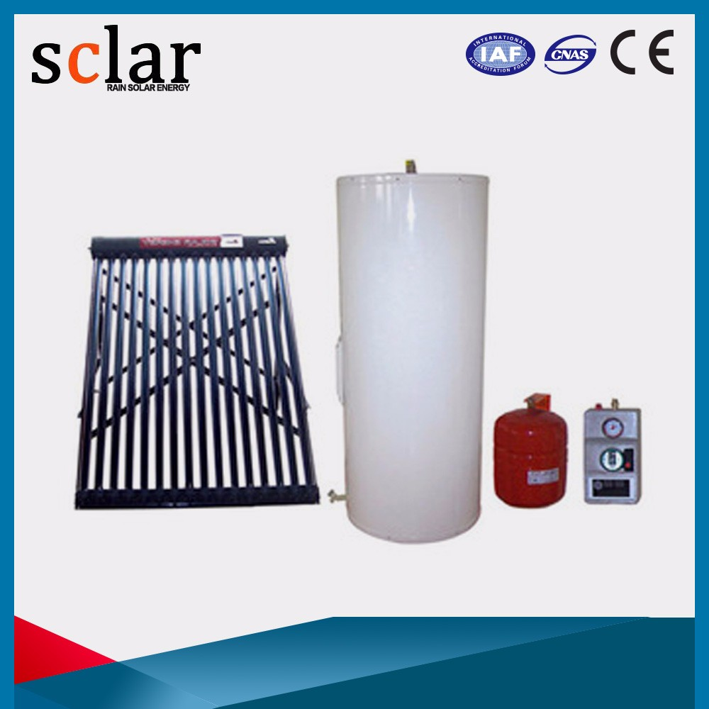 Domestic hot water/floor/pool split pressurized solar hot water system for solar