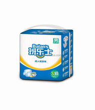Soft PE film cheap price adult diapers/nappies