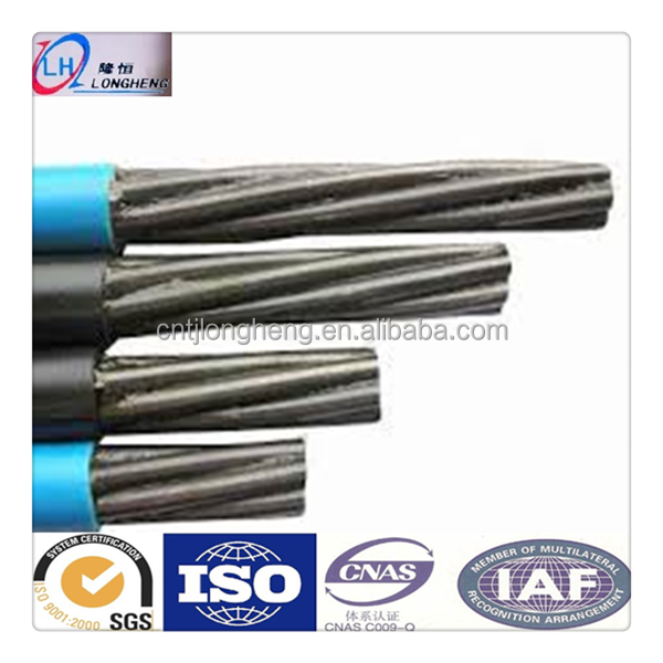 HDPE steel wire cable 1860MPa 12.7mm 15.24mm PC strand