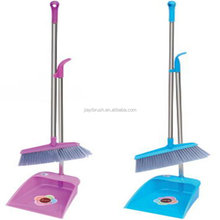 Jumping pole scraper plastic broom bristles with wooden handle