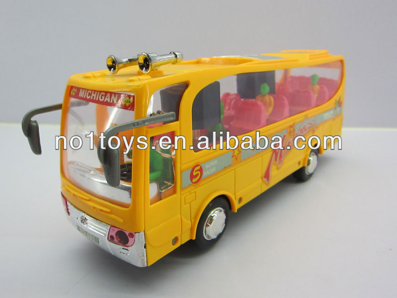 plastic toy electric school bus with music