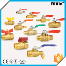 "RX 1168 1/4"" flexible brass ball valve 1/4"" brass pex fitting valve 1/4"" extended stem ball valve"