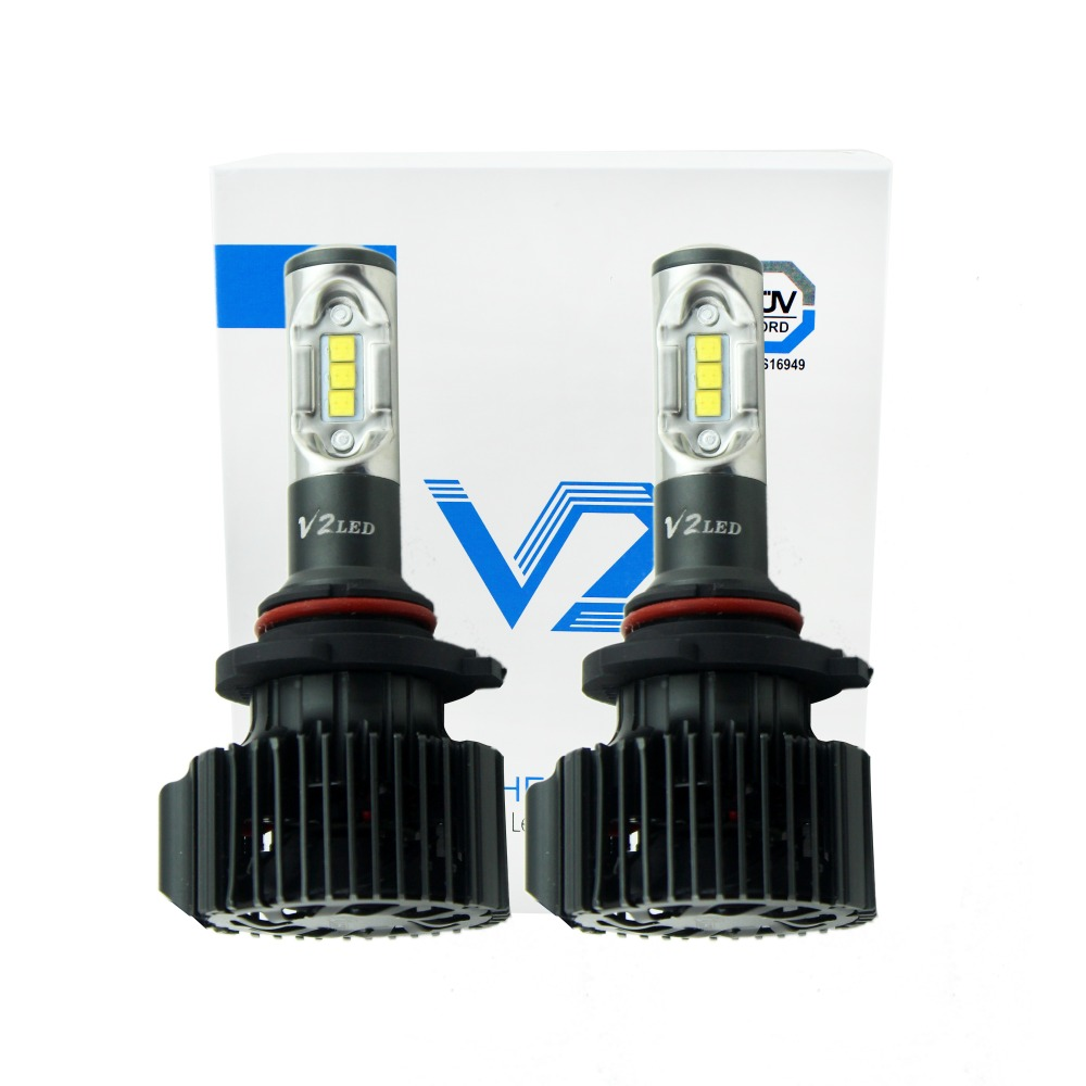 V2 LED HEADLIGHT HB3 9005 HB4 9006 hB4 8400LM 72W 6500K car Led head light Kit H1 H3 H7 H8 H9 H10 H11
