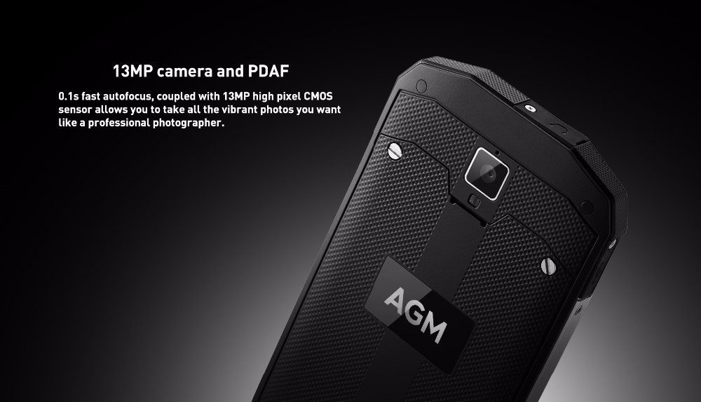 Original AGM A8 mobile phone Waterproof Smartphone Android 7.0 Quad Core 1.2GHz 3G ram 32G rom 13.0MP 4050mAh